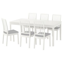White 6 Chair Dining Table Hair Wash Ekedalen And Chairs Ikea Feedback