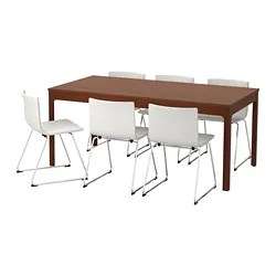 table and 6 chairs electric barber chair dining sets up to seats ikea ekedalen bernhard