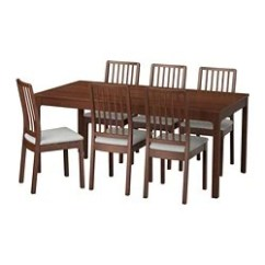 Dining Room Sets 6 Chairs White Porch Rocking Up To Seats Ikea Ekedalen Table And