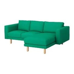Backamo 3 Seater Sofa Slipcover Factory Outlet Sri Lanka All Sofas Ikea Norsborg Seat With Chaise Longue Edum Birch Bright Green