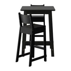 Tall Table And Chairs For Kitchen Installing Flooring 餐桌椅組 Ikea Norraker 吧台桌椅組