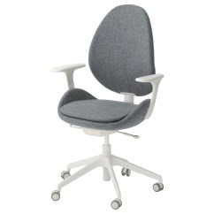 Desk Chair With Wheels Purple Living Room Hattefjall Swivel Armrests Gunnared Beige White Ikea