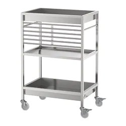 stainless steel kitchen cart true equipment islands carts ikea kungsfors