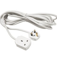 koppla extension cord earthed white 5 m [ 2000 x 2000 Pixel ]