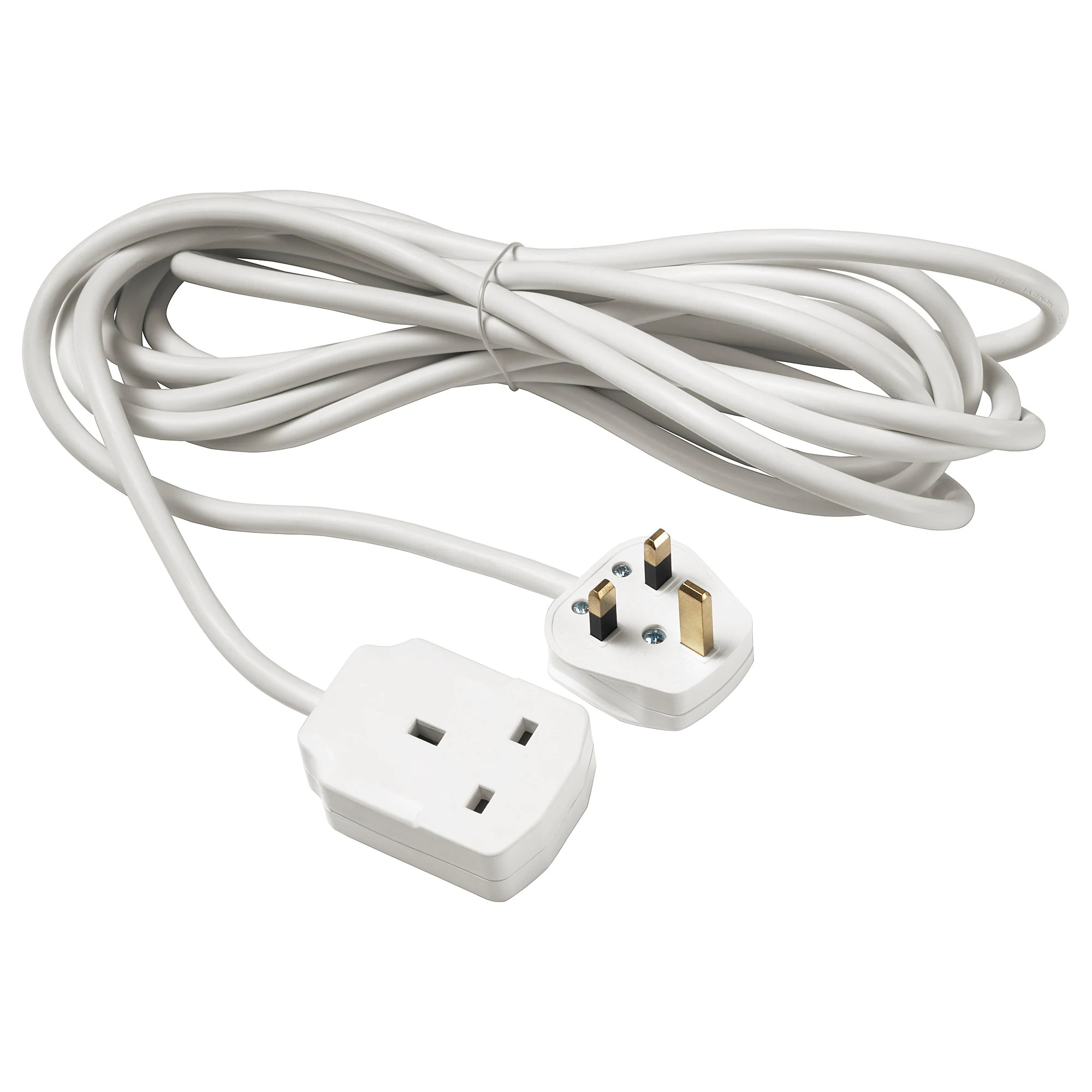 hight resolution of koppla extension cord earthed white 5 m