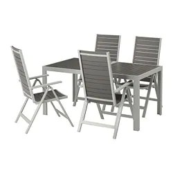 outdoor table and chairs wood big man lawn chair patio dining sets ikea sjalland 4 reclining