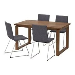 Table With Chairs Replacement Seats For Dining Room Sets 4 Ikea Morbylanga Volfgang And