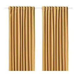 curtains in living room images color schemes with navy blue bedroom ikea sanela 1 pair golden brown