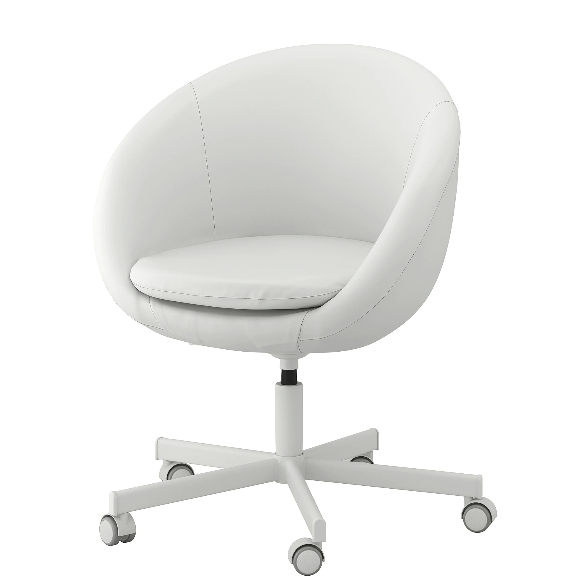 ikea swivel chair revolving indiamart skruvsta ysane white feedback