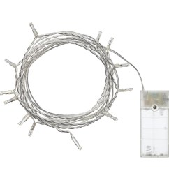 ledfyr led lighting chain with 12 lights indoor battery operated silver colour [ 2000 x 2000 Pixel ]