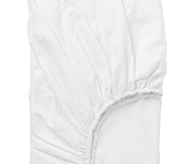 Dvala Fitted Sheet White Queen