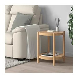 chair side book stand patio foot caps tables glass wooden ikea listerby table white stained oak