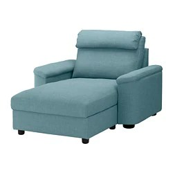 cheap chaise lounge chairs makeup stools fabric chaises ikea lidhult gassebol blue gray