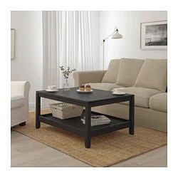 tables in living room arranging furniture around tv coffee side ikea havsta table dark brown