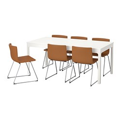table and 6 chairs 2 person lounge chair dining sets up to seats ikea ekedalen bernhard
