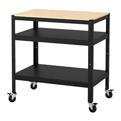 kitchen utility carts cabinet grades islands ikea kitchens bror cart black pine plywood