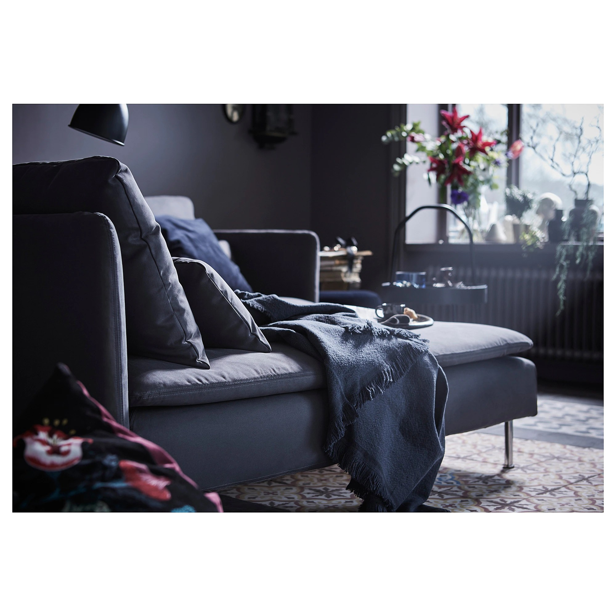 Chaise Longue Söderhamn Samsta Dark Grey