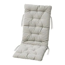 white cushion chair plastic adirondack chairs walmart outdoor cushions pillows ikea kuddarna seat back pad