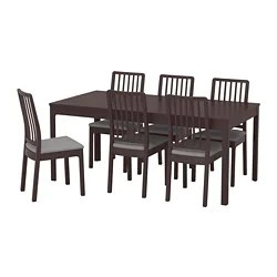 high top table with 6 chairs perfect chair craigslist dining sets up to seats ikea ekedalen and