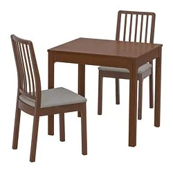 table and 2 chairs cheap ashley furniture chair ottoman dining sets up to seats ikea ekedalen