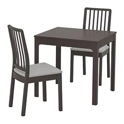 dinning room table and chairs vintage wooden dining sets ikea ekedalen 2