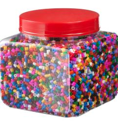 pyssla beads mixed colors assorted colors 1 lb 5 oz 600 g  [ 2000 x 2000 Pixel ]