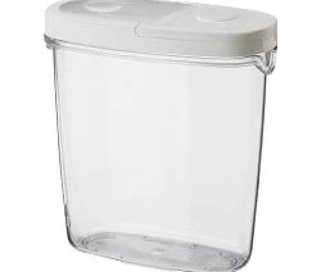 Ikea 365 Dry Food Jar With Lid Clear White