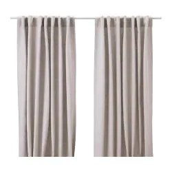 "AINA Pair of curtains unbleached Length: 98 "" Width: 57 "" Weight: 3 lb 8 oz  Length: 250 cm Width: 145 cm Weight: 1.60 kg"