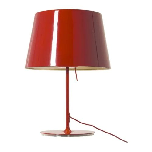 red lacquer table lamp