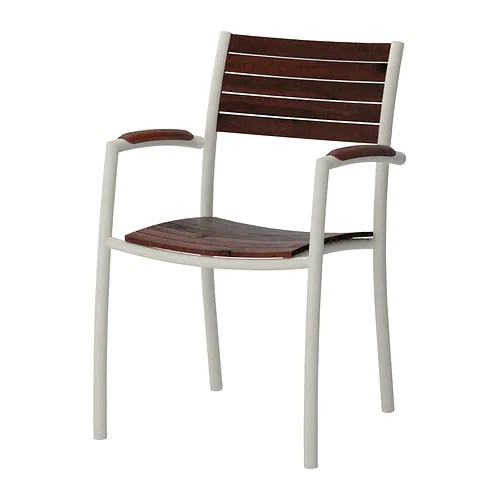 VINDALS Chair with armrests, outdoor