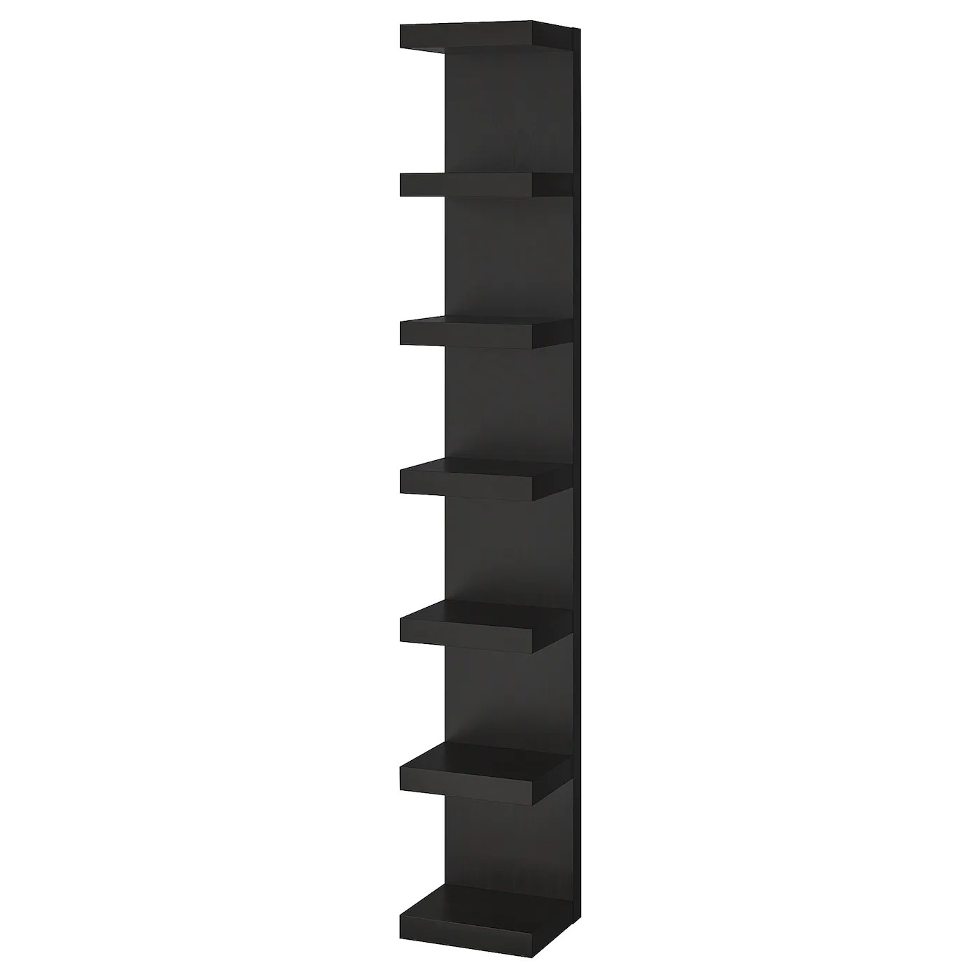 Wall Shelf Unit Lack Black Brown