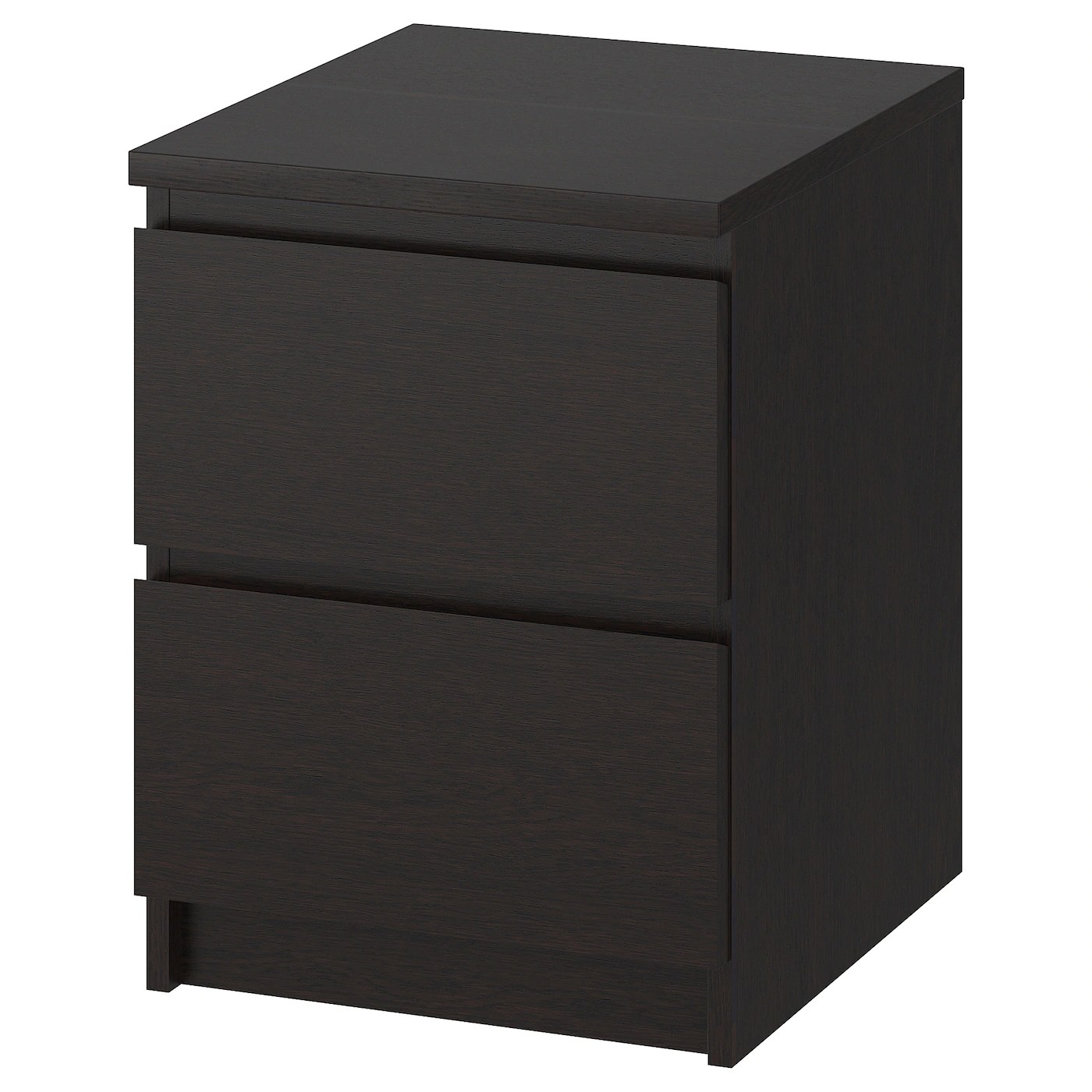 Chest Of 2 Drawers Malm Black Brown