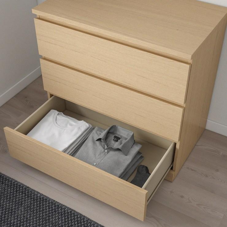 Malm Kommode 3 Schubladen Weiß 2021
