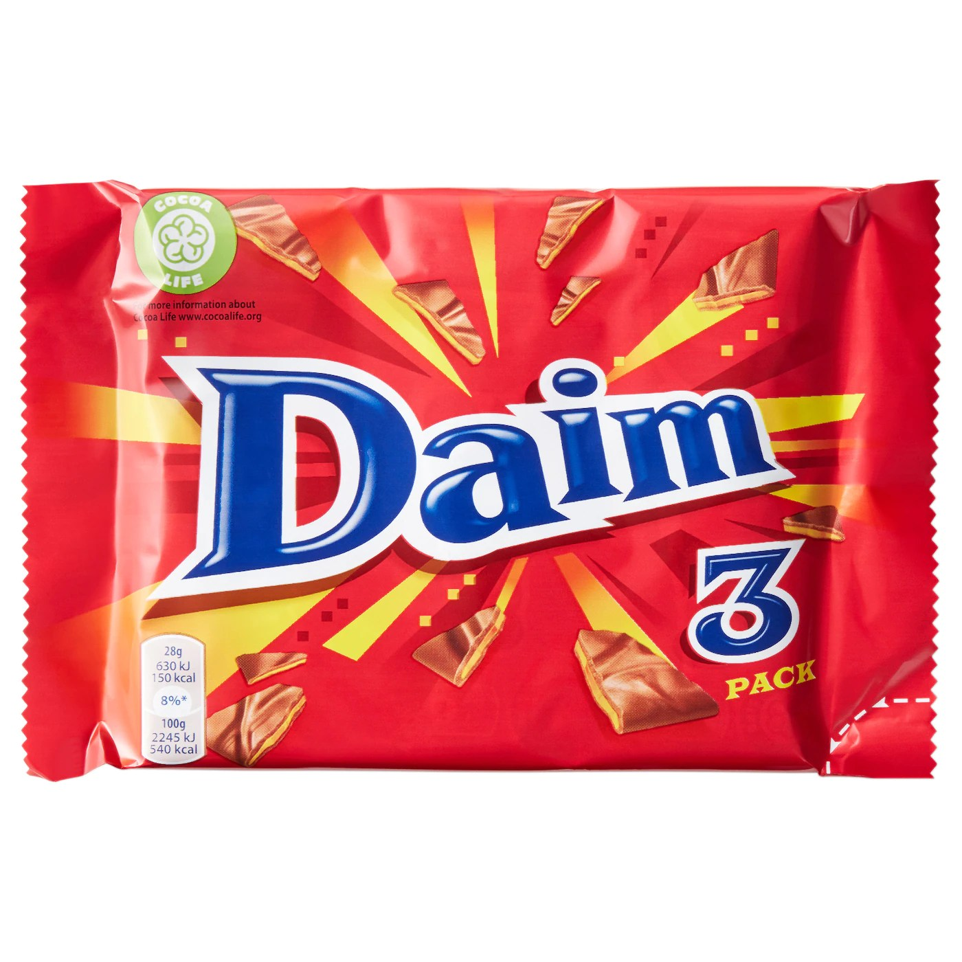 Calories in IKEA Milk Chocolate with Almond Candy Crunch (Daim)