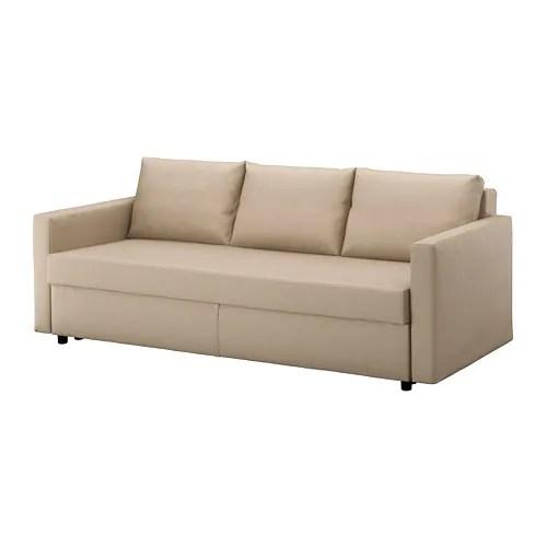 au sofa bed 300 cm friheten three seat skiftebo beige ikea