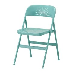 Blue Metal Folding Chairs Solid Wooden Kitchen Frode Chair Ikea
