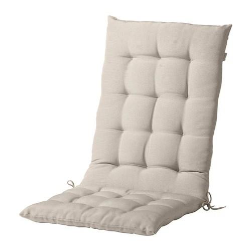 white outdoor dining chair australia ski lift swing hÅllÖ seat/back cushion, - beige ikea