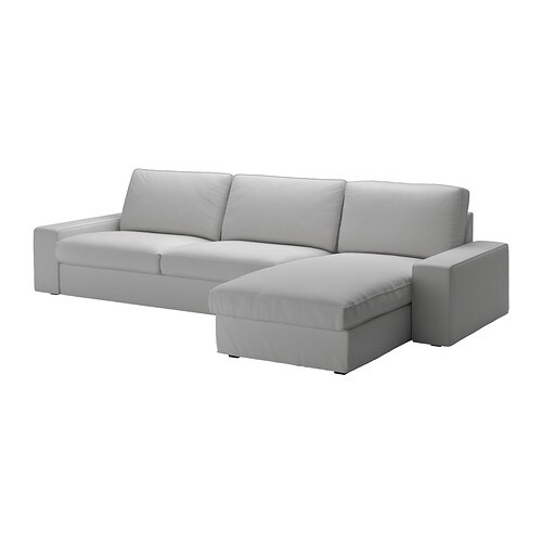 KIVIK Three-seat sofa and chaise longue IKEA KIVIK is a generous seating series with a soft, deep seat and comfortable support for your back.
