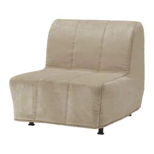 ikea lycksele sofa bed orange sectional online india lÖvÅs chair-bed - henån beige