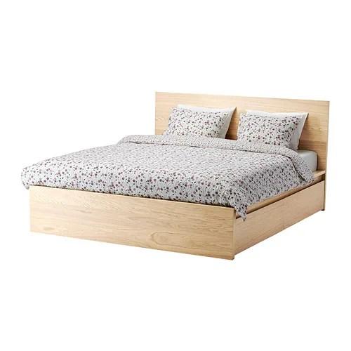 Malm Bed Frame High W 2 Storage Bo