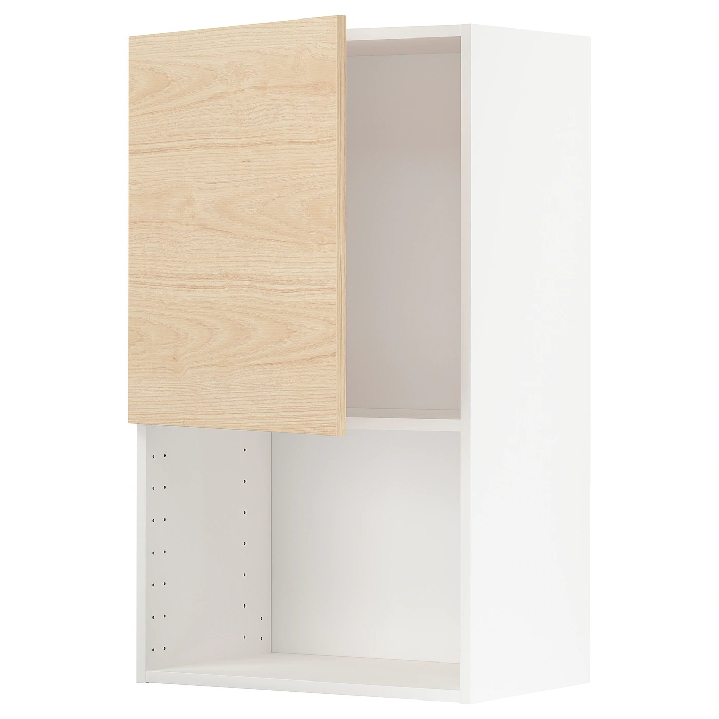 metod wall cabinet for microwave oven white askersund light ash effect 60x37x100 cm