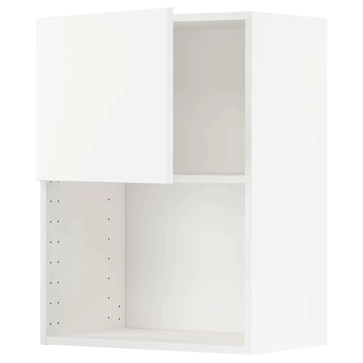 metod wall cabinet for microwave oven white veddinge white 60x37x80 cm