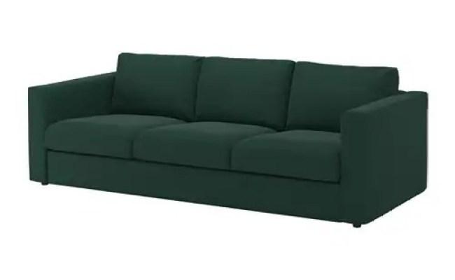 Vimle 3 Seat Sofa Gunnared Dark Green Ikea