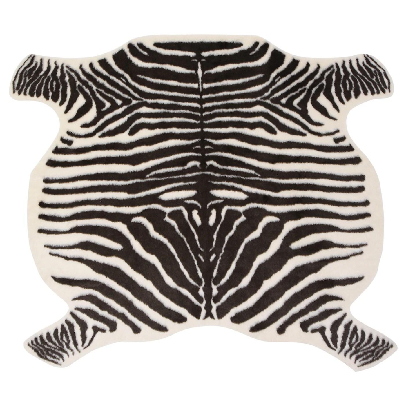 grensten tapis zebre blanc brun