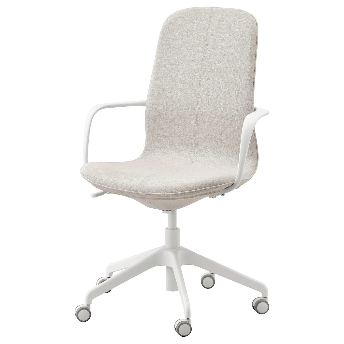 langfjall chaise de bureau av accoudoirs gunnared beige blanc