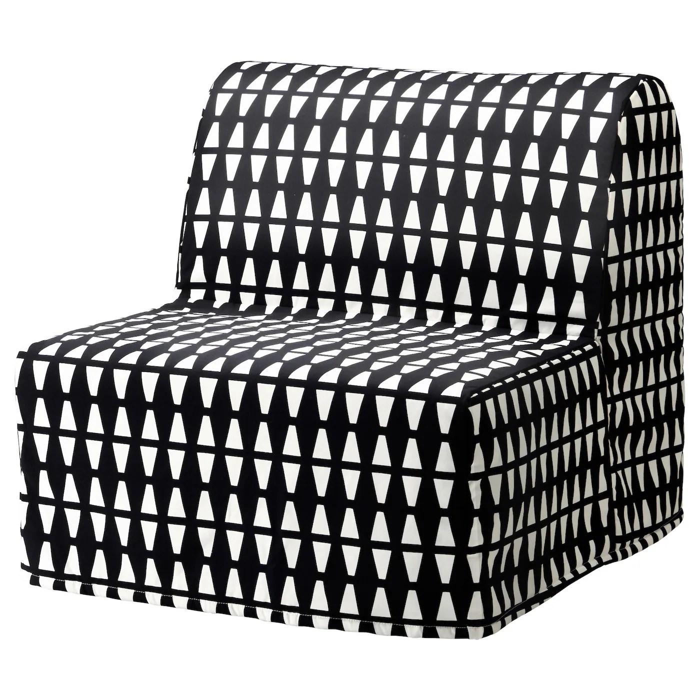 Lycksele Murbo Chauffeuse Convertible Ebbarp Noir Blanc Ikea