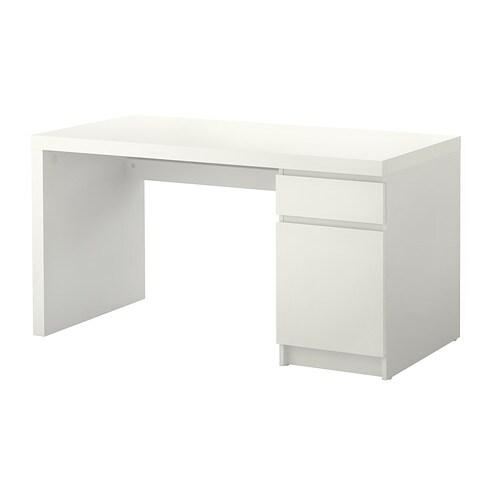 MALM Bureau Blanc 140 X 65 Cm IKEA