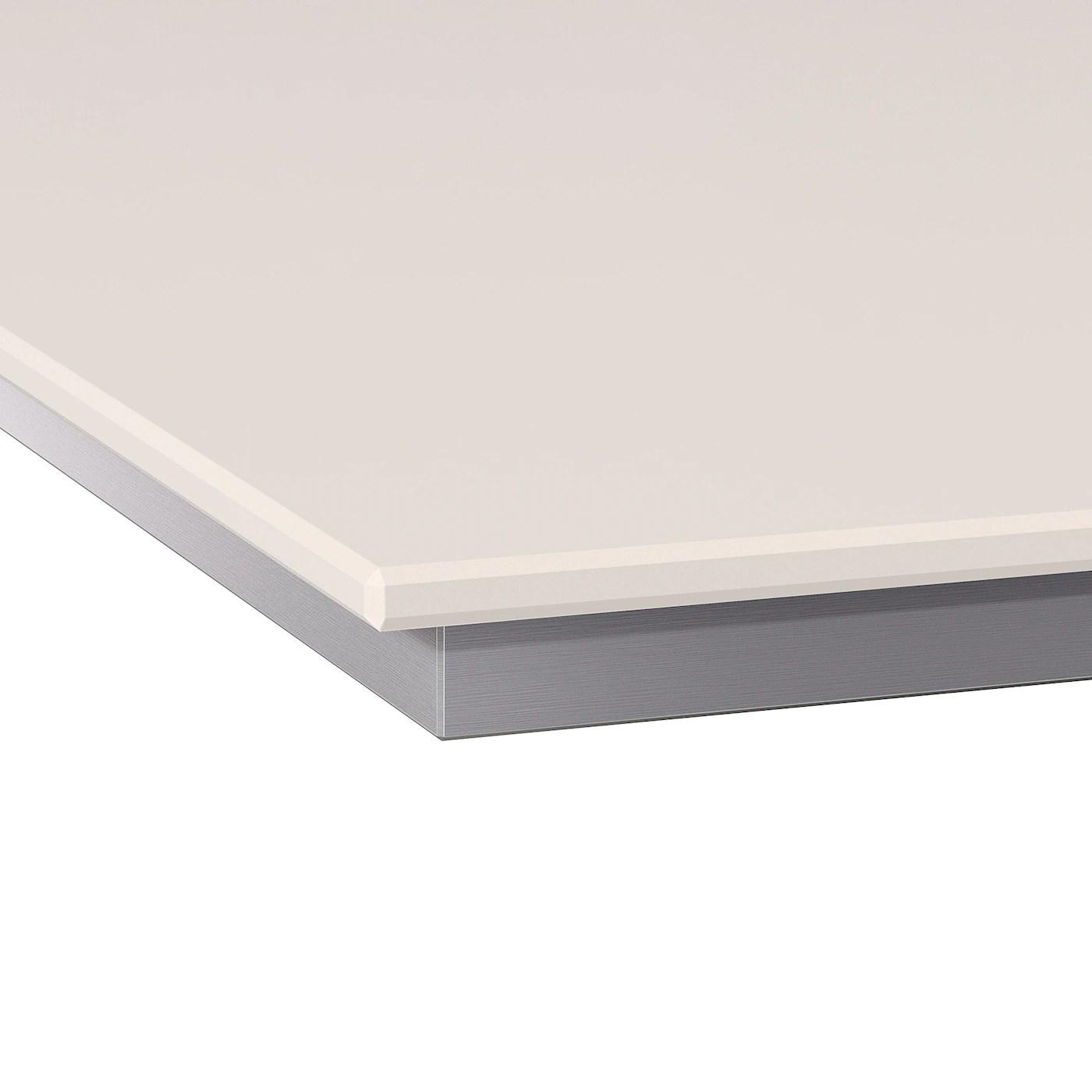 Oxsten Plan De Travail Sur Mesure Blanc Quartz 63 6 125x3 8 Cm Ikea