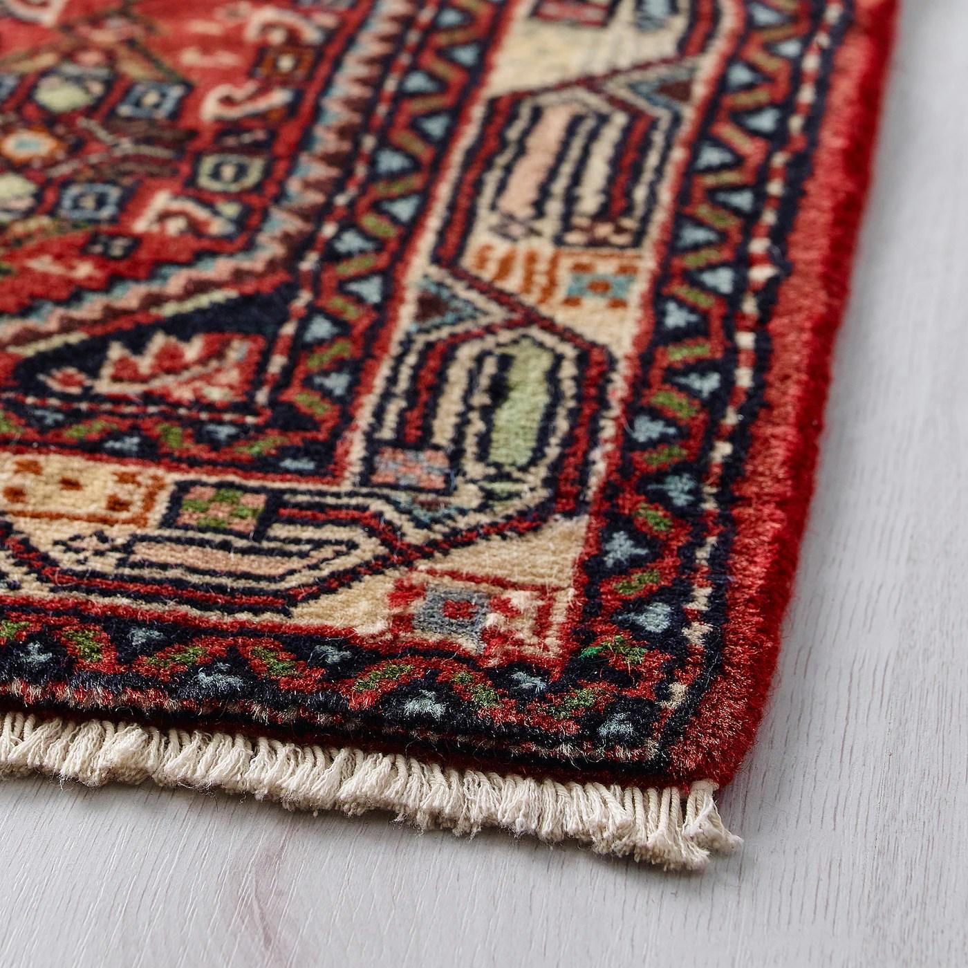 persisk hamadan tapis poils ras fait main motifs divers 60x90 cm