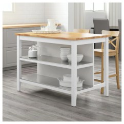 Ikea Kitchen Island Canada John Boos Stenstorp Îlot Pour Cuisine Blanc Chêne 126x79 Cm